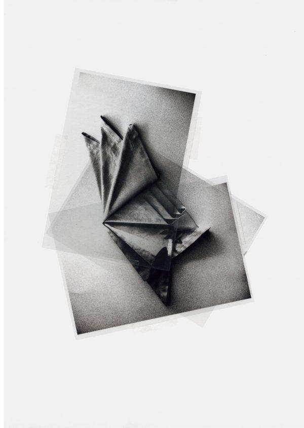 Pablo Capitán del Río, Los Comensales, 2019Collage y transferencia sobre acetato70 x 50 cm